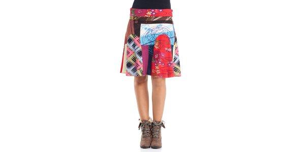 Dámská pestrobarevná sukně Peace&Love