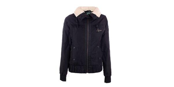Dámská černá zimní bunda Fundango s límcem