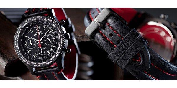 8887bd51f21 Luxusní černé designové pánské hodiny Detomaso