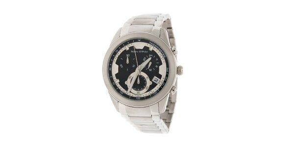 Pánské náramkové hodinky Marc O´Polo s chronografem a tachymetrem a černým…