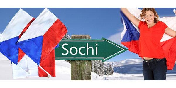 Výhodný set vlajek ČR - fanděte olympionikům v Soči