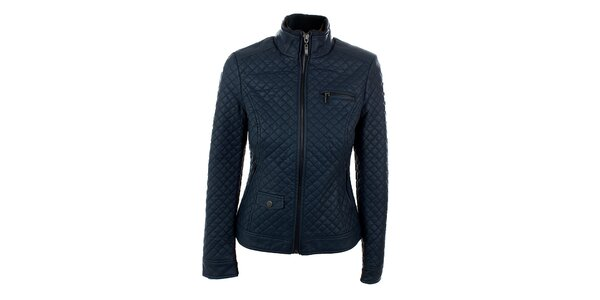 Dámská tmavě modrá koženková bunda Company&Co