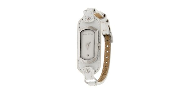 Dámské hodinky Marc O´Polo s bílým koženým řemínkem