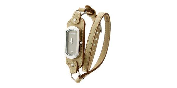 Dámské hodinky Marc O´Polo s úzkým béžovým řemínkem