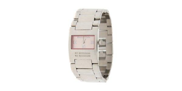 Dámské náramkové hodinky Marc O´Polo s růžovými detaily