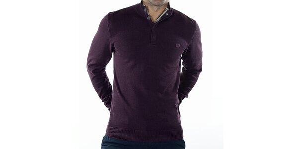 Pánský fialový svetr se zipem Bendorff