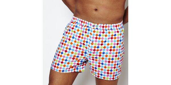 Pánské duhové kárované boxerky Color Code