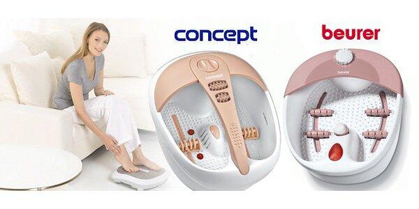 Masážní vany na nohy Beurer a Concept