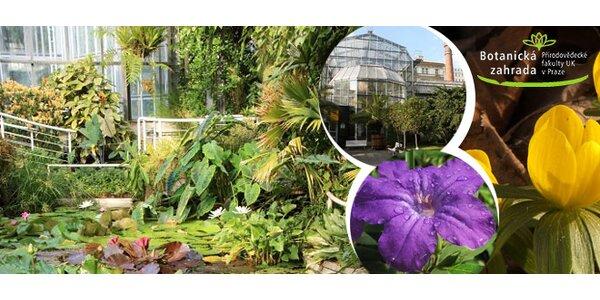 Rodinný vstup do skleníků Botanické zahrady UK