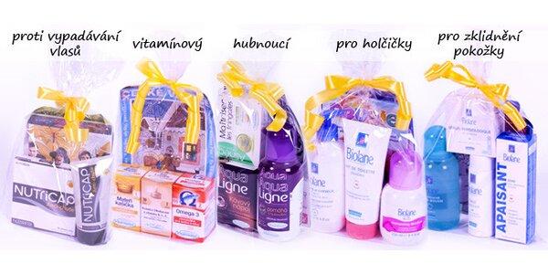 Dárkové balíčky s přírodními doplňky a kvalitní kosmetikou