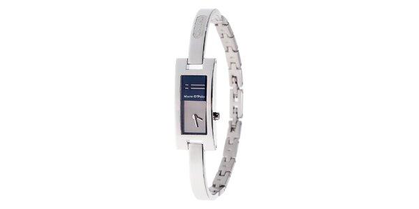 Dámské ocelové hodinky Marc O´Polo s tmavě modrými detaily