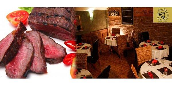 249 Kč za vynikající klokaní nebo Flank steak pro DVA. SLEVA 50%.