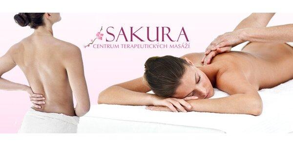 Terapeutická hloubková masáž odstraňující bolesti zad