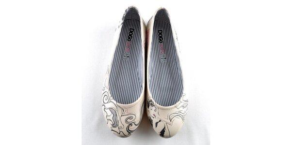 Dámské balerínky Dogo s motivem Audrey Hepburn