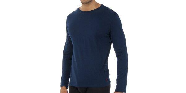 Tmavě modré triko Ralph Lauren s dlouhým rukávem