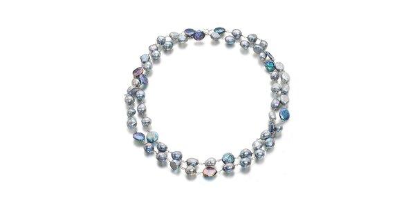 Dámský šedo-černý variabilní perlový náhrdelník Orchira