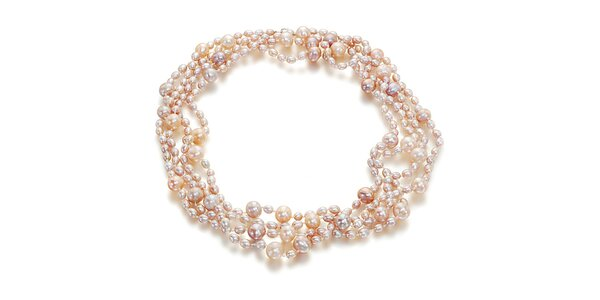 Dámský náhrdelník z růžových perel Orchira