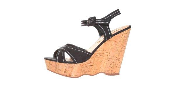 Dámské černé sandálky na platformě Ana Lublin