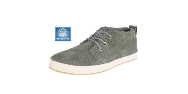 Pánské šedé semišové boty Beppi