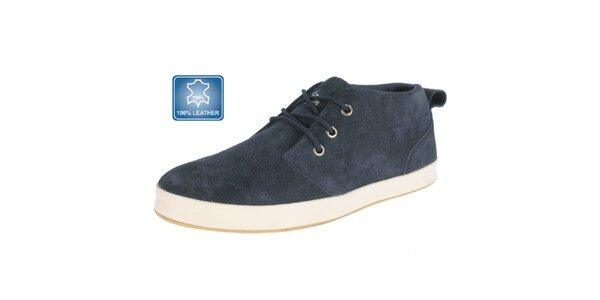 Pánské tmavě modré semišové boty Beppi
