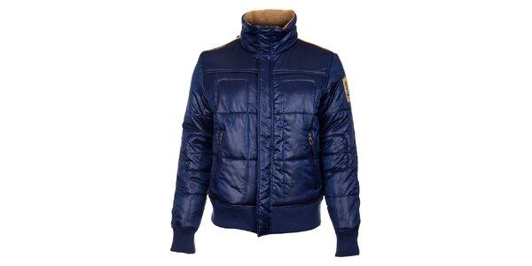 Pánská tmavě modrá zimní bunda Timeout