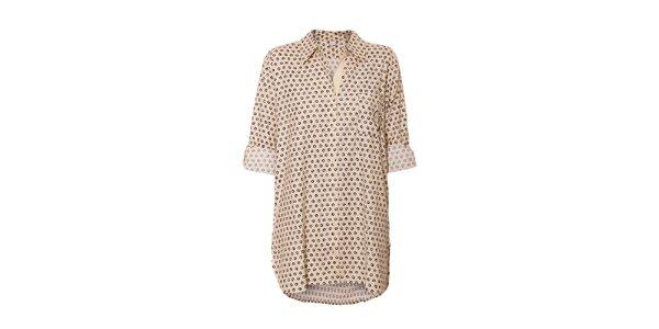 Dámská noční košile značky DKNY ve smetanové barvě