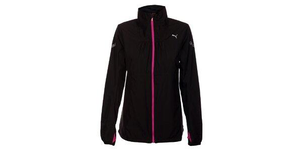 Dámská černá softshellová bunda Puma s růžovými detaily
