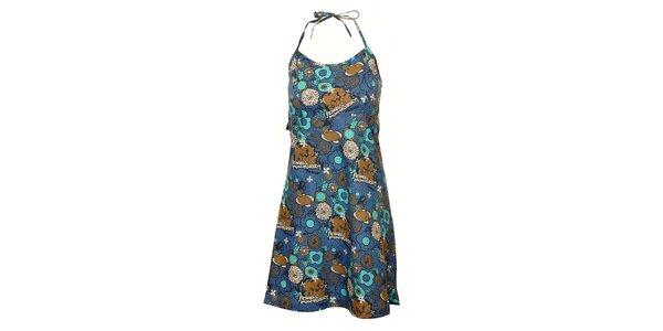 Dámské tmavě modré šaty Rejoice s veselým barevným potiskem