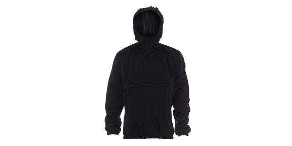 Pánská černá nepromokavá bunda Rejoice s oblékáním přes hlavu