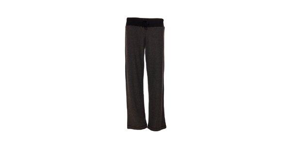 Kalhoty značky DKNY v žíhané tmavě šedé barvě