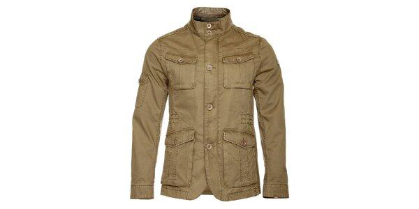 Pánská světle hnědá jarní bunda Roberto Verino