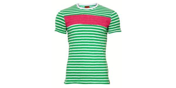 Pánské tričko SixValves s růžovým pruhem