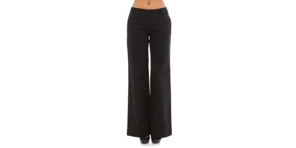 Dámské černé široké kalhoty Tommy Hilfiger
