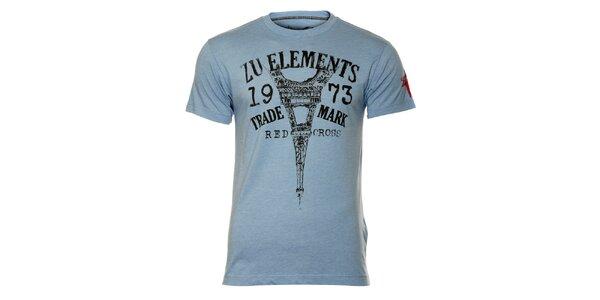 Pánské modré tričko s eiffelovkou ZU elements