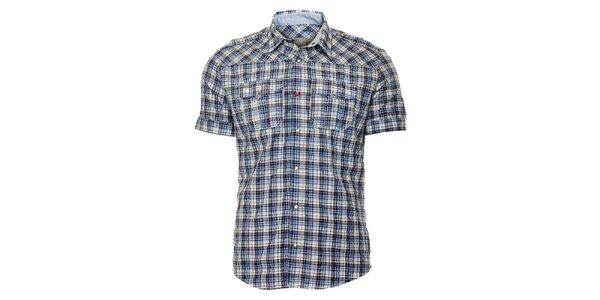 Pánská modrá károvaná košile ZU elements