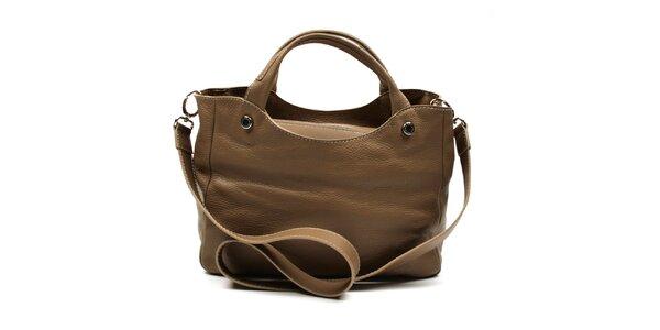 Dámská hnědá kabelka na zip s ramenním popruhem Acosta