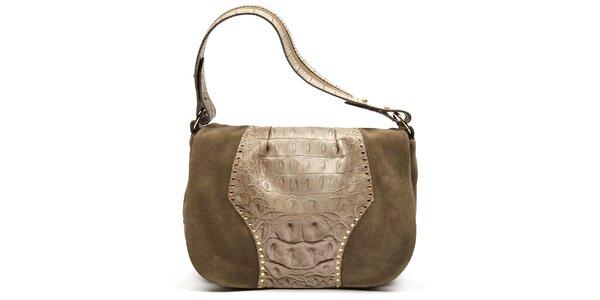 Dámská kožená kabelka s vnější zipovou kapsičkou Acosta
