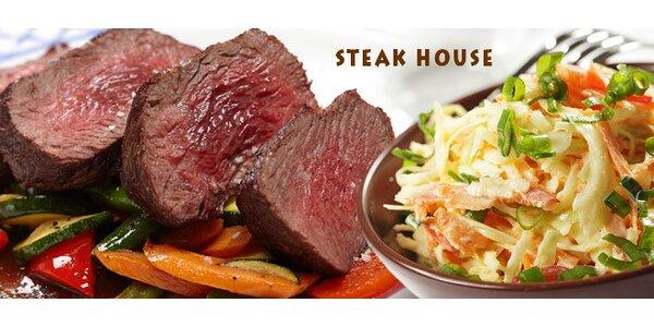 Dva chutné steaky z argentinské hovězí svíčkové
