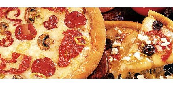DVĚ vynikající pizzy dle vašeho výběru