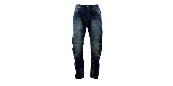Pánské modré džíny s šisováním Exe Jeans