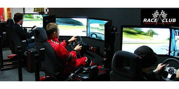 Až 120 min jízdy v racing simulátoru
