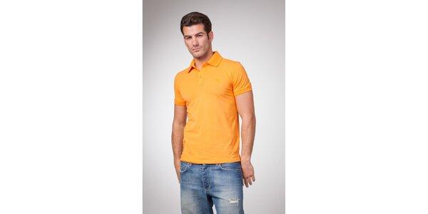 Pánské žluto-oranžové polo tričko Bendorff