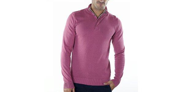 Pánský růžový svetr se zipem Bendorff