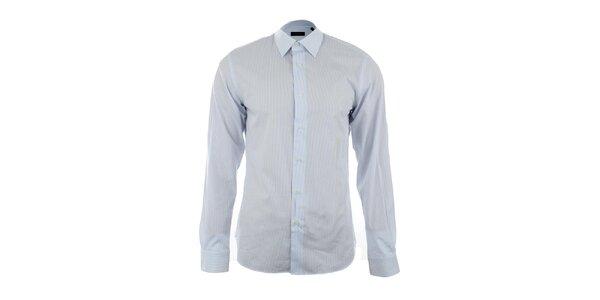 Pánská modrobíle pruhovaná košile Calvin Klein