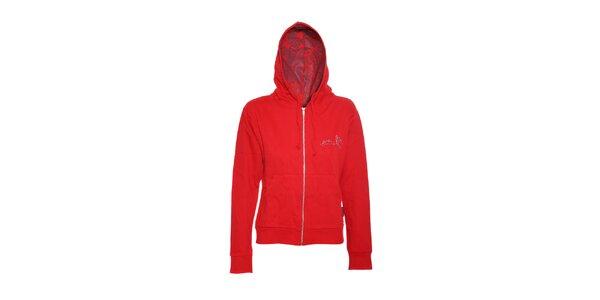 Dámská mikina značky Meatfly v červené barvě