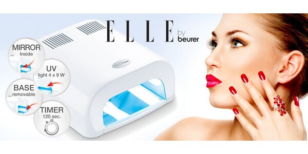 Praktická UV lampa na gelové nehty