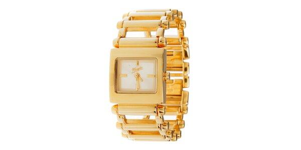 Dámské zlaté ocelové hodinky Memphis