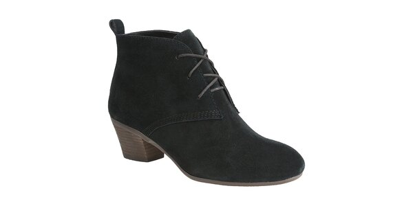 Dámské černé semišové boty Clarks
