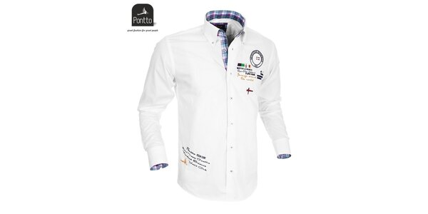Pánská bílá košile Pontto