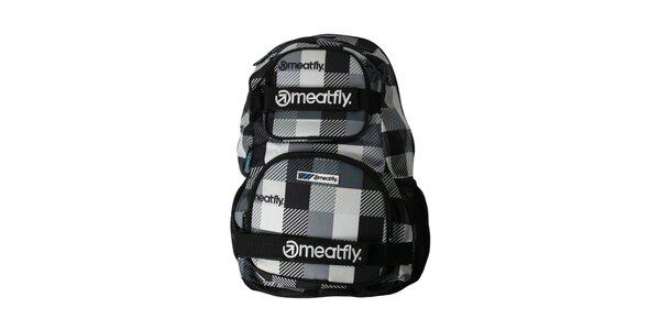 Kostkovaný batoh značky Meatfly o objemu 25 litrů
